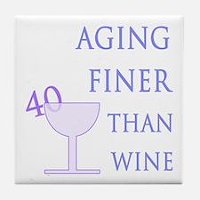 Witty 40th Birthday Tile Coaster