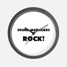 Sound Managers ROCK Wall Clock