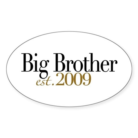 Big Brother 2009 Oval Sticker (50 pk)