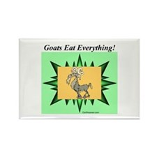 """""""Goats Eat Everything"""" Rectangle Magnet"""