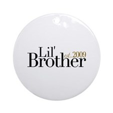 New Little Brother 2009 Ornament (Round)