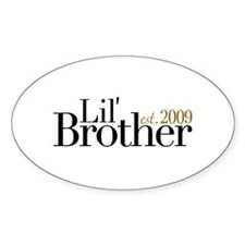 New Little Brother 2009 Oval Decal
