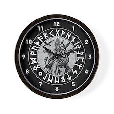 Odin Rune Shield Wall Clock