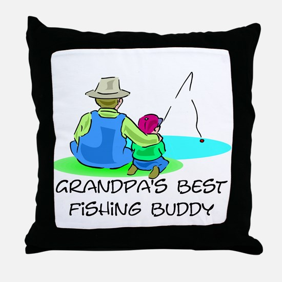 Grandpa's Fishing Buddy Throw Pillow