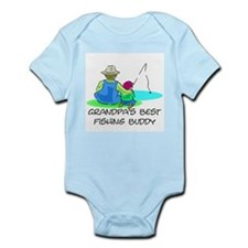 Grandpa's Fishing Buddy Infant Bodysuit