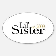 Little Sister 2009 Oval Decal