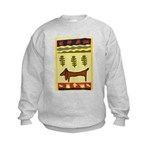 Weiner Dog Kids Sweatshirt