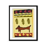 Weiner Dog Framed Panel Print