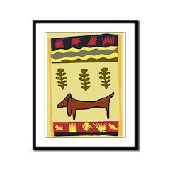 Weiner Dog Framed Panel Print