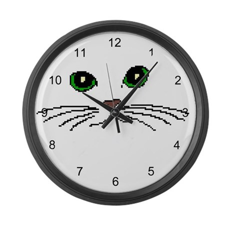 Cats Face Large Wall Clock