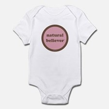 Believer Infant Creeper (pink + brown)