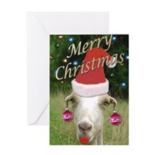 Ruby the Sassy Christmas Goat Greeting Card