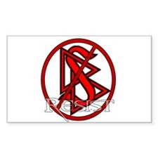 Resist Scientology Rectangle Decal