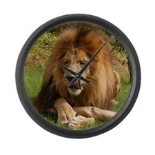 Lion Large Wall Clock