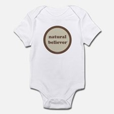 Believer Infant Creeper (khaki + brown)