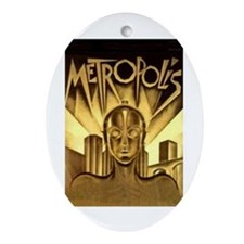 Metropolis Oval Ornament