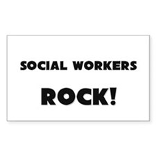 Social Workers ROCK Rectangle Decal