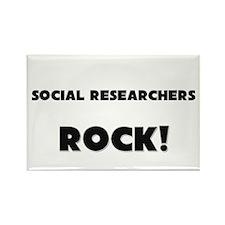 Social Researchers ROCK Rectangle Magnet