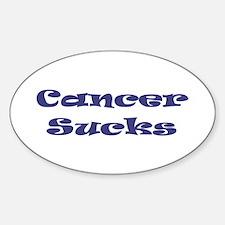 Cancer Sucks Oval Decal