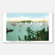 Bar Harbor Maine ME Rectangle Decal