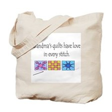 Grandma's quilts Tote Bag