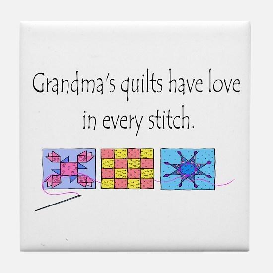 Grandma's quilts Tile Coaster