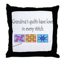 Grandma's quilts Throw Pillow