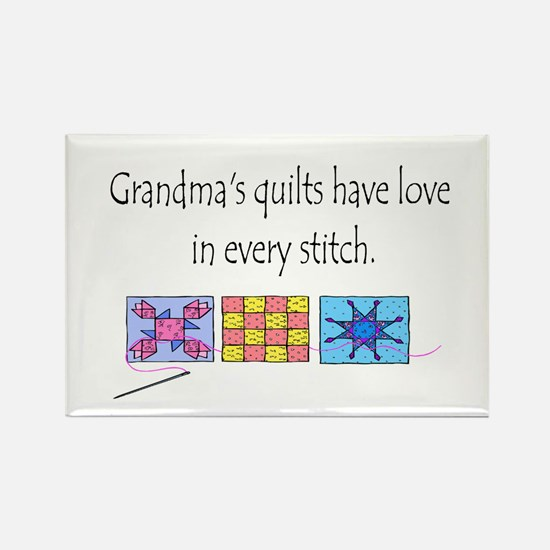 Grandma's quilts Rectangle Magnet
