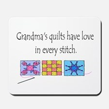 Grandma's quilts Mousepad