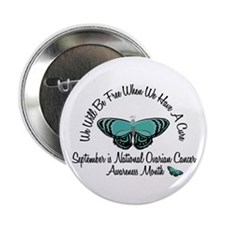 "Ovarian Cancer Awareness Month 3.2 2.25"" Button"