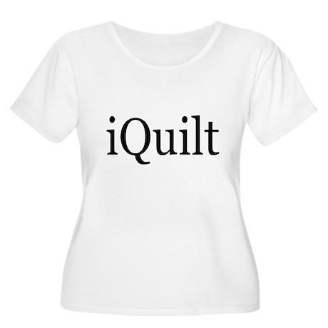 iQuilt Women's Plus Size Scoop Neck T-Shirt
