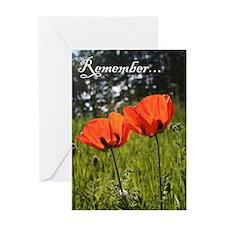 Twin Poppy Greeting Card
