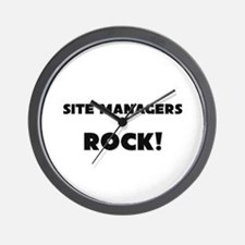 Site Managers ROCK Wall Clock