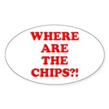 Chips! Oval Decal