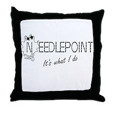 Needlepoint Throw Pillow