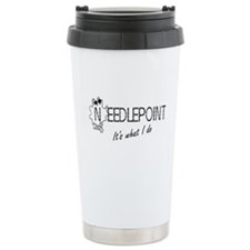 Needlepoint Travel Mug
