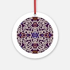Art Nouveau (purple/ivory) Keepsake Round Ornament