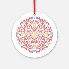 Art Nouveau (Black/Salmon) Keepsake (Round)