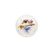 I Poop Rainbows Pug Mini Button (10 pack)