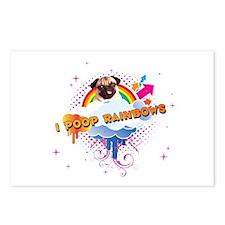 I Poop Rainbows Pug Postcards (Package of 8)