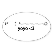 yoyo <3 Oval Decal