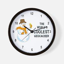 World's Coolest Geocacher Wall Clock