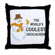 World's Coolest Geocacher Throw Pillow