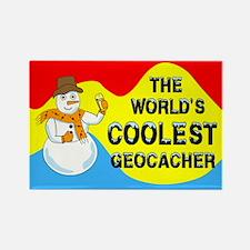 World's Coolest Geocacher Rectangle Magnet