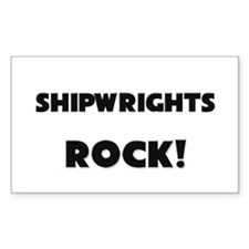 Shipwrights ROCK Rectangle Decal