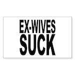 Ex-Wives Suck Rectangle Sticker