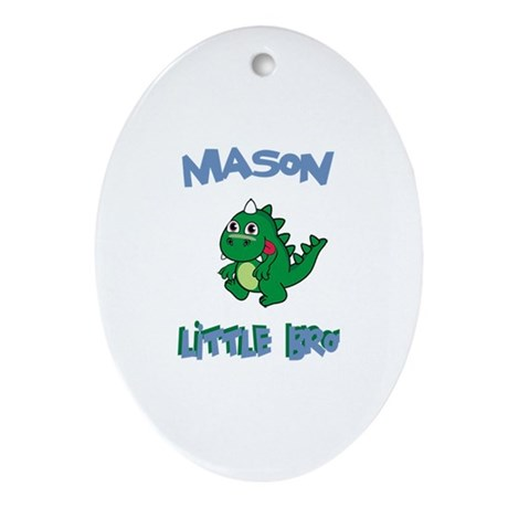 Mason - Dinosaur Brother Oval Ornament