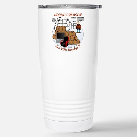 Hockey Season Stainless Steel Travel Mug