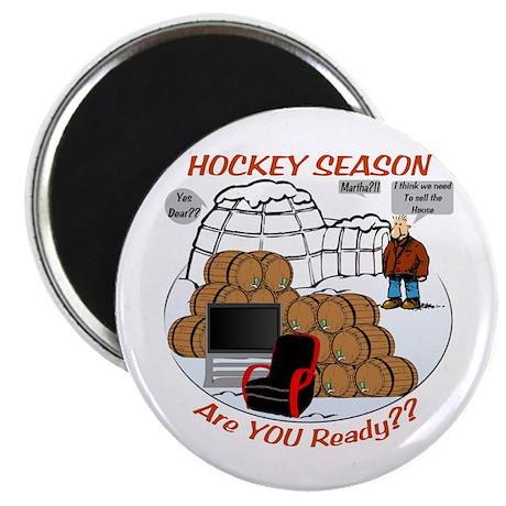 "Hockey Season 2.25"" Magnet (10 pack)"