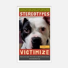 Stereotypes Victimize Rectangle Decal